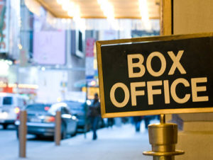 Broadway Box Office sign in NYC