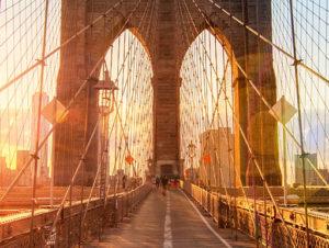 View of Brooklyn Bridge in NYC