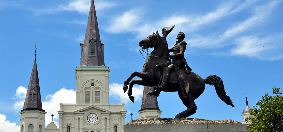 Statue of Andrew Jackson in New Orlean's French Quarter