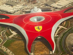 Ferrari World Theme Park in Abu Dhabi, UAE