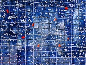 """The Wall of """"I Love You's"""" in Paris"""