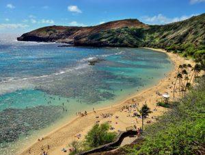 Hanauma Bay Nature Preserve in Oahu, Hawaii
