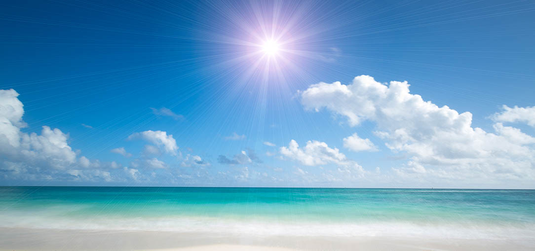 Beautiful sunny day at the beach