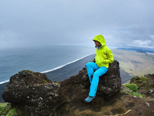 View of ocean from Dyrholaey Cliff in Reykjavik, Iceland