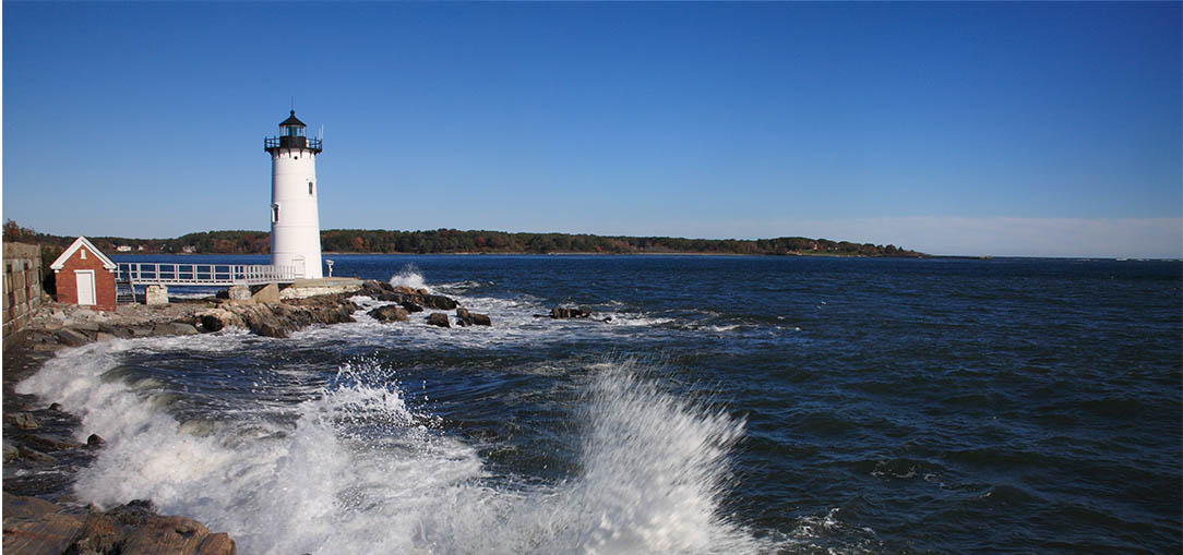 Lighthouse on the coast of New Hampshire