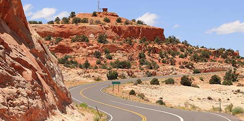 Scenic road through Utah, USA