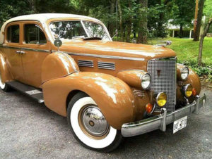 Hunter Byington kept a photo of his prized 1938 Cadillac at his place setting for every meal