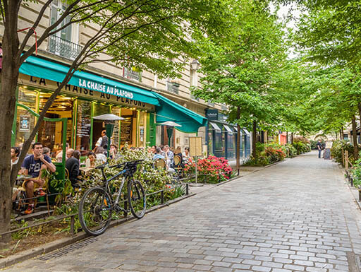 Le Marais district is a great place to grab some fine French food and drink