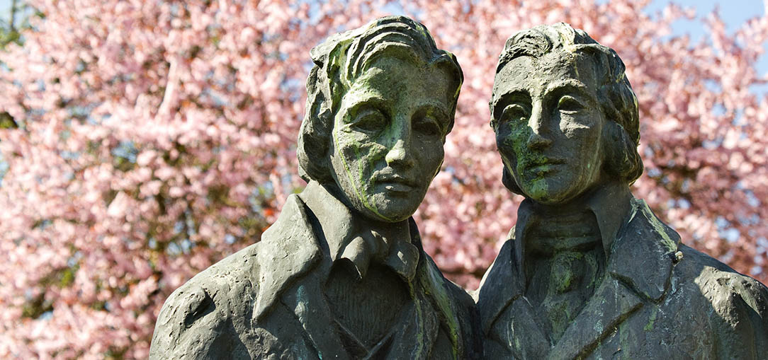 Statue of The Brothers Grimm At Museum Kassel