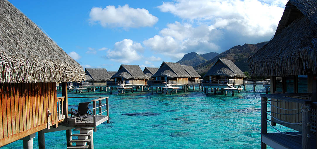 Adult Resort in Fiji featuring private over the water bungalows with amazing views