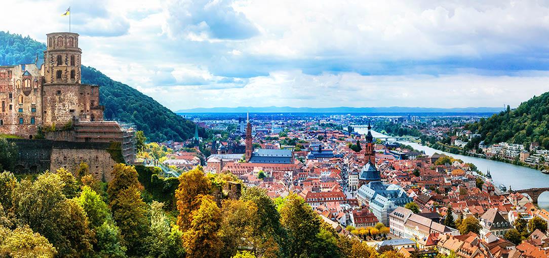 Panoramic view of Heidelberg, Germany