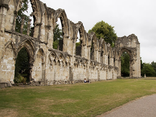 Bram Stoker set his classic Dracula at St. Mary's Abbey in York.