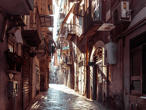 Old Town, historic center of Naples, Italy