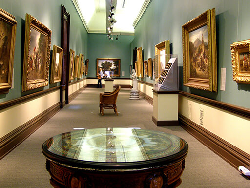 Inside the Crocker Art Museum in Sacramento, California