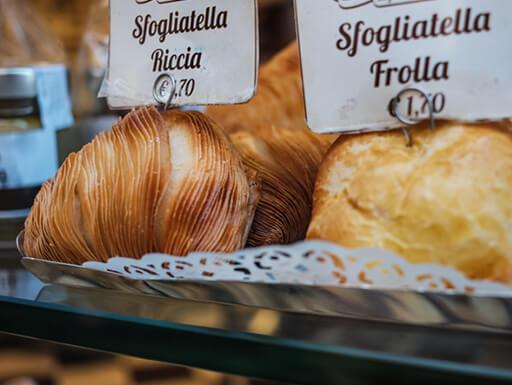 Sfogliatella, typical pastry in Naples, Italy