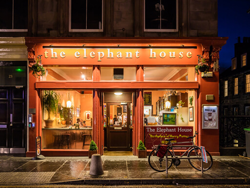 The Elephant house cafe on December 10, 2015, made famous as the place of inspiration to writer J.K. Rowling, author of Harry Potter.