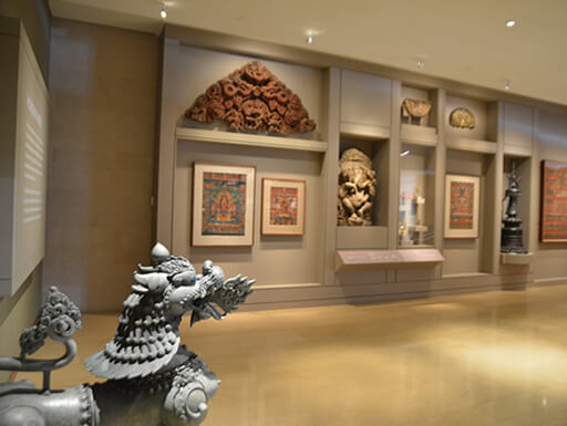 Interior of The Rubin Museum of Art gallery in New York City