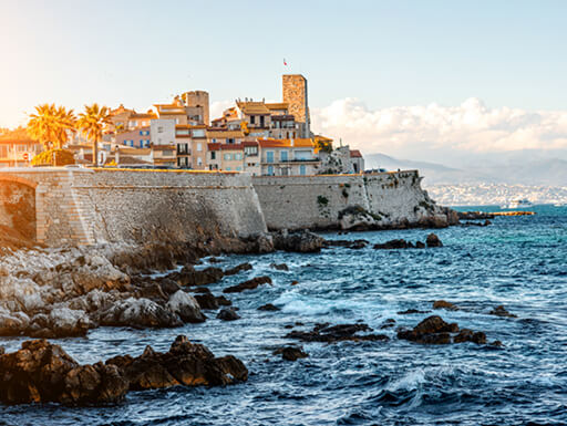 The coastal fortifications of Antibes in the south of France