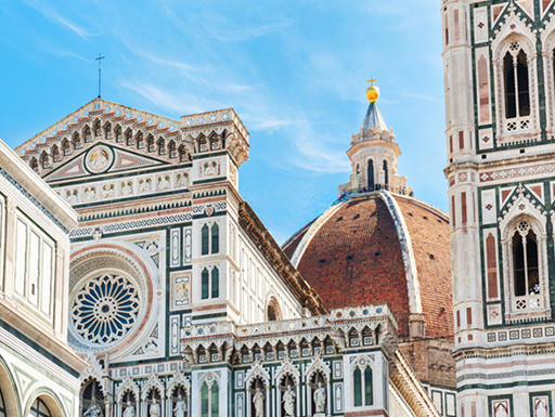 The Sante Maria Del Fiore cathedral in Florence