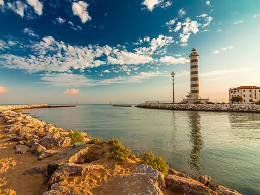 A lighthouse on the beach of Lido di Jesolo