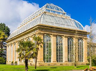 The glasshouse in the city's Royal Botanical Gardens