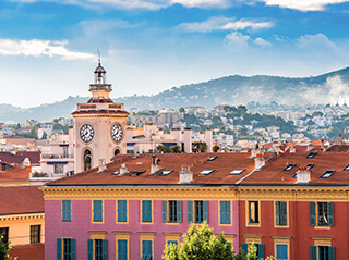 The old town in Nice on the Cote d'Azur